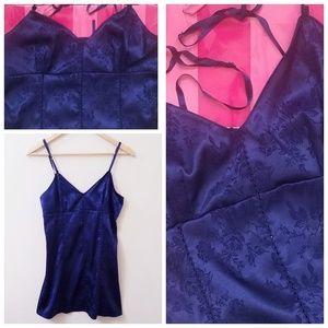 Vintage VS Corset Back Slip Dress Lingerie